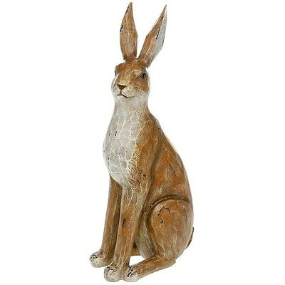 Large Hare Ornament / Sculpture - Rustic Brown