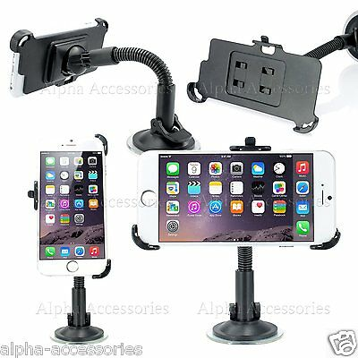 For iPhone 7 Plus Car Holder 360 Degrees Windscreen Suction Mount Cradle Kit