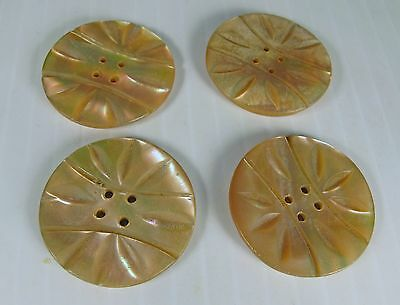 Antique Buttons Large Mother Of Pearl – Set Of 4