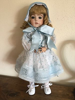 "Lilian Middleton Reproduction of an antique doll on composition body 18"" tall"