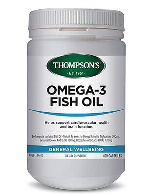 Thompson's-Omega 3 Fish Oil 400 Capsules