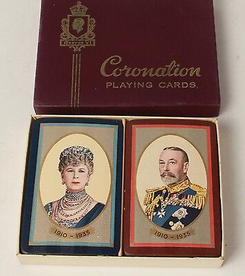 Playing Card Decks Coronation George V Queen Mary Canada