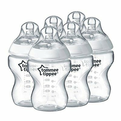 Tommee Tippee Closer to Nature 260 ml/9fl oz Feeding Bottles 6-pack