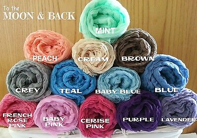 Choice of 4 Hand-Dyed Cheesecloth Newborn Baby Wrap Photography photo prop