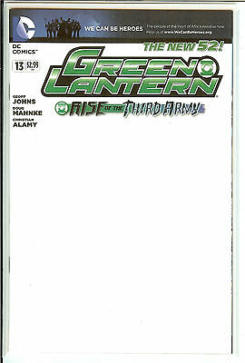 Green Lantern #13 We Can Be Heroes Blank Variant Near Mint