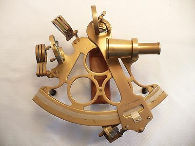 """Large 6"""" Brass Sextant Stanley London Reproduction Nautical Decorative Gift"""