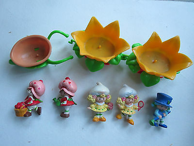 Strawberry Shortcake Strawberryland Miniatures lot of 5 plus Berry Busy Bug