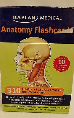 Kaplan Medical Anatomy Flashcards Test Prep Study Nursing, Doctor, etc