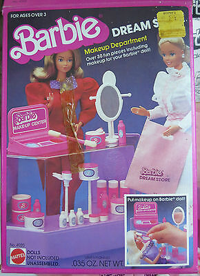 1982 Barbie Dream Store Makeup Department with Box