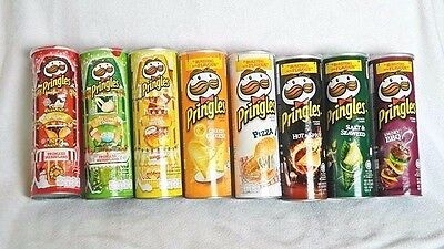 2X PRINGLES POTATO CHIPS CRISPS SUPER STACK FLAVORS SNACK CANS FUN PARTY 110 g