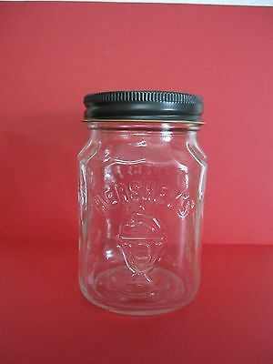 Vintage Hershey's Chocolate Shoppe Toppings Glass Jar Tin Lid.