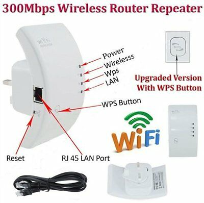 300Mbps Wifi Repeater Wireless N 802 AP Range Router Extender Booster AU Plug M2