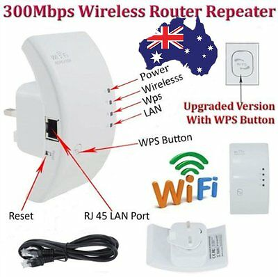 Hot Sale 300Mbps Wireless AP Wifi Range Router Repeater AU Plug Extender Booster