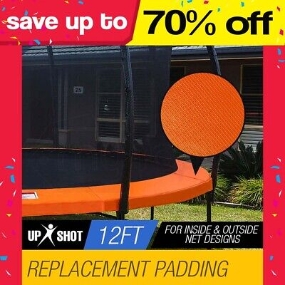 NEW UPSHOT 12ft Trampoline Replacement Padding Orange Inside/Outside Net Design