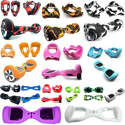 Silicone Rubber Protective Skin Case Cover For 6.5in 2 Wheels Hoverboard Scooter