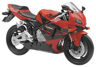 NewRay Die-Cast 1:12 Scale Motorcycle CBR600R Red 2006