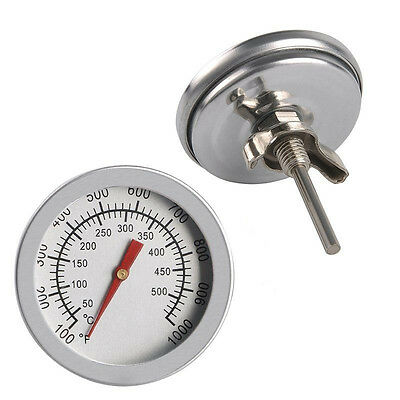 50-500℃ Stainless Steel Barbecue BBQ Smoker Grill Thermometer Temperature Gauge