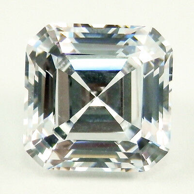 1.25ct (6mm) Asscher Cut My Russian Diamond Simulated Lab Created Loose Stone