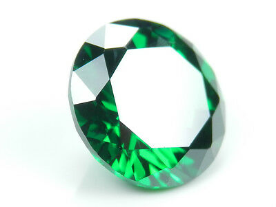 6.5mm 1 Ct Round Green Emerald Russian Diamond Simulated Lab Created Loose Stone