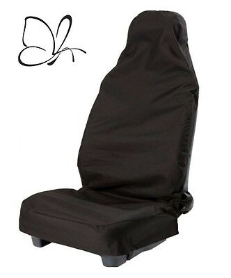 Heavy Duty Single Car Seat Cover in Black Fully Waterproof