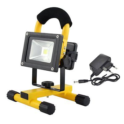 10W Portable Rechargeable LED Bulb Outdoor Camping Flood Light Spot Work Lamp