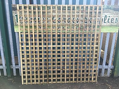 6ftx6ft Heavy Duty Privacy Square Trellis Fence Lattice Partition Garden Treated