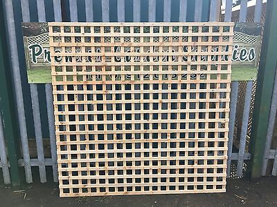 6ftx6ft Heavy Duty Privacy Square Trellis Fence Lattice Partition Garden RAW