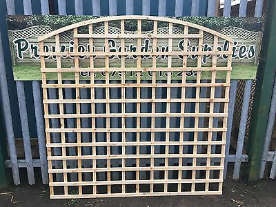 6ftx6ft Heavy Duty Bow Top Arch Trellis Fence Lattice Partition Garden RAW