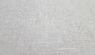 100% Pure Irish Linen Fabric W/white 140Cm P/mtr Minimum Order 3Mtrs Good Second