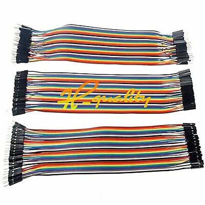 120PCS  20cm Dupont Wire Male to Female + Female to Female + Male to Male