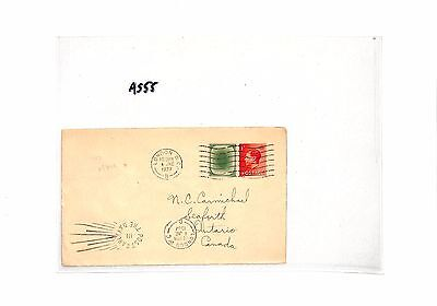 AS55 1937 GB KEVIII PERIOD 'POACHED EGG' Dummy Stamp  London to Canada Cover