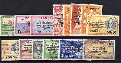 Tonga 1968 South Pacific Surcharged Imperf Mint MNH X4246