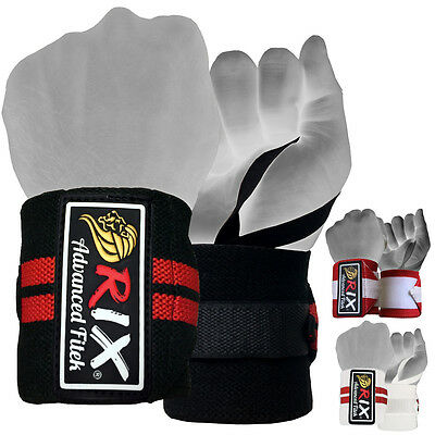 Rix Weight Lifting Wrist Wraps Body Building Hand Support Gym Straps Grip Gloves