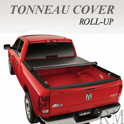 Lock Roll Up Tonneau Cover Fits 2014-2017 Chevy Silverado / Gmc Sierra 5.8Ft Bed