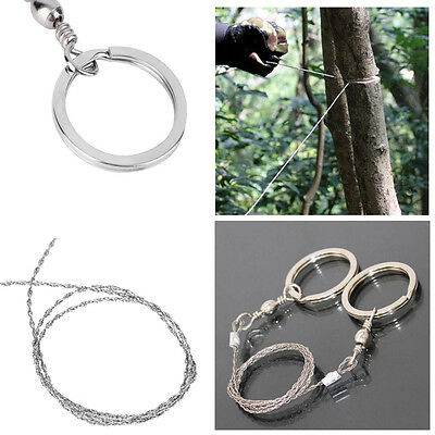 NEW HOT Hiking Camping Stainless Steel Wire Saw Exigent Travel Survival Gear