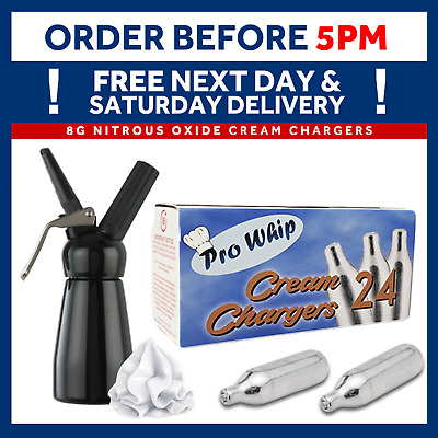 8g Pro Whip Whipped Cream Chargers - Dispensers N2O NOS NOZ MOSA