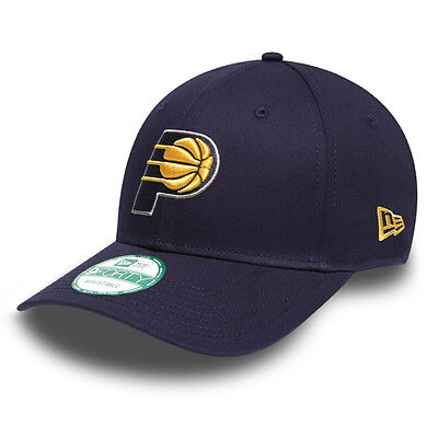 New Era 9forty Indiana Pacers NBA Official League Adjustable Curve Peak Hat Cap