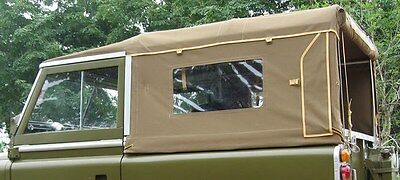 NEW 88 Series 1 Full Land Rover Canvas Hood With Side Windows-2 colour options