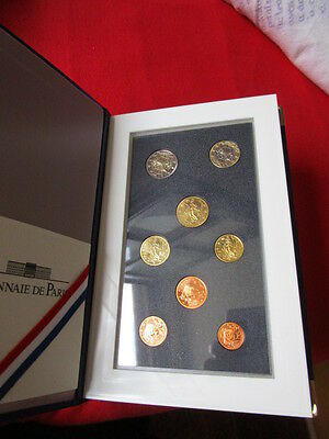Original KMS Frankreich 2002 1 Cent - 2 Euro in PP / Proof OVP