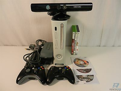 Microsoft Xbox 360 Bundle - Console, Controllers, 6 Games, Kinect & More