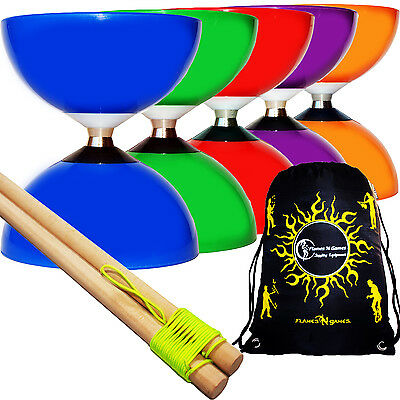 CAROUSEL Ball Bearing Pro Diabolo Set + Wooden Diablo Handsticks, String  & Bag