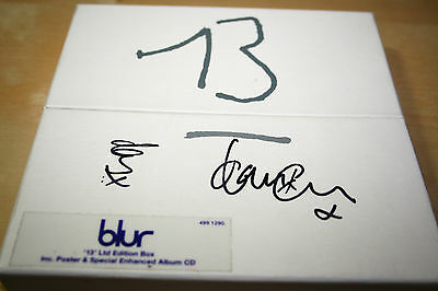 Very Rare BLUR 13 -1999 Limited Edition (Number 061494) Promo Box CD AUTOGRAPHED