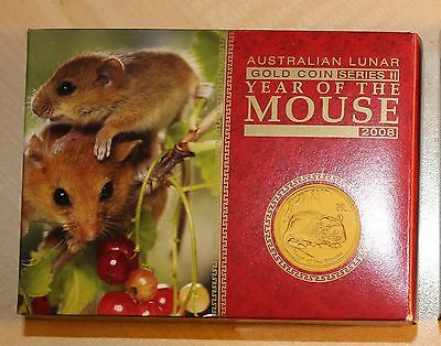 1/4 Unze Lunar II Gold Maus Mouse 2008 PP PROOF