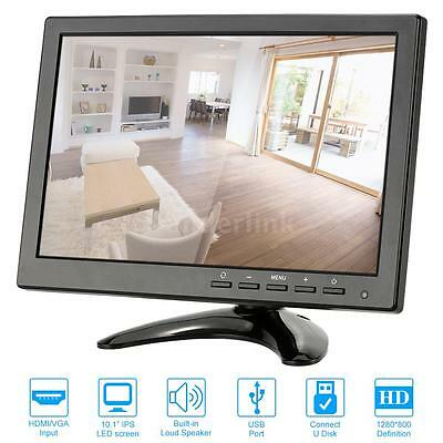 "10.1"" HD 1280*800 LED IPS Monitor for CCTV Camera Surveillance System US C8J3"