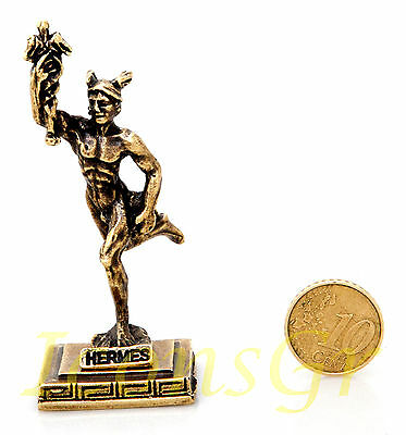 Ancient Greek Olympian God Miniature Sculpture Statue Zamac Hermes Messenger God