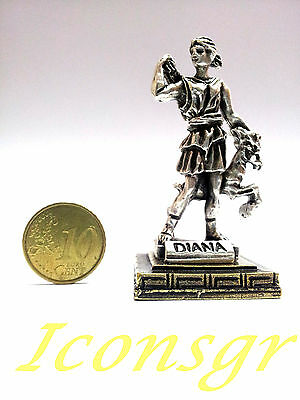 Ancient Greek Olympian God Miniature Sculpture Statue Zamac Diana Artemis S