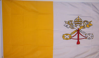 NEW 3x5 ft VATICAN ITALY CATHOLIC POPE  FLAG WITH BRASS GROMMETS