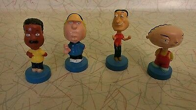 2005 Family Guy Mini Bobblehead Figures Lot of 4 Stewie Cleveland Chris Quagmire