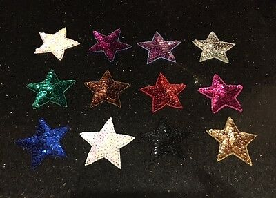 Sequin Star Sew On Motif Applique Choice of Colours