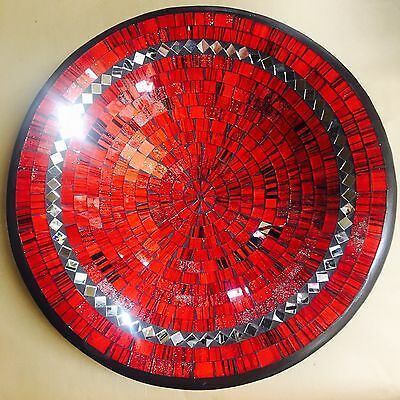 Bowl Plate decorative display dish modern Mosaic glass Handmade Medium decor